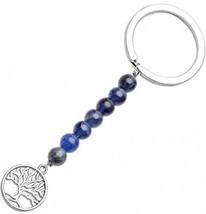 QGEM Tree Of Life Keychain Sodalite Beads Natural Crystal Stone Handmad... - $23.22