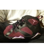2 Nike Air Jordan Retro 7 & 13 Mulberry size 9c 9 C 7C Girl Shoes gr PIN... - $32.73