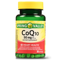 Spring Valley Co Q10, Heart Health, 50 mg, 30 softgels - $13.98