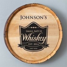Engraved Whiskey Barrel Sign Home Decor Gift Personalized Gifts - $129.48
