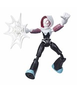 Spider-Man Marvel Bend and Flex Ghost-Spider Action Figure Toy 15-cm Fle... - $21.77