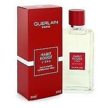 Habit Rouge L'eau Cologne By GUERLAIN FOR MEN  3.3 oz Eau De Toilette Spray - $46.95