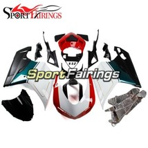 Red White and Black Lowers Fairing For Ducati 848 1098 1198 2007 - 2012 ... - $279.57