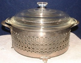 Vtg Fire King #448 Covered Casserole Dish 2 Qt W/Manning Bowman Footed Server - $17.81