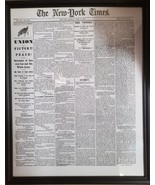 The Civil War Ends! Framed Recreation of the NY Times April 10, 1865 fro... - $19.99