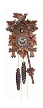 River City Cuckoo Clock Melody Quartz w/ 5 Leaves Bird Design Pendulum S... - $160.95