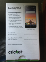 LG Stylo 3 - Titan Gray (Cricket Wireless on AT&T Network) - $119.99