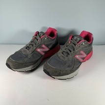 New Balance 990 Womens W990gp4 Gray / Pink Running Shoes Size 9.5 Made in the US - $29.69