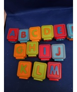 VTECH Sit-to-Stand Alphabet Train 13 pc Dual Sided Letter Blocks Replace... - $21.00