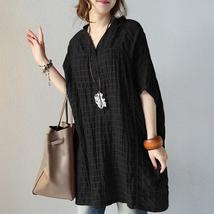 2108 ZANZEA Women Vintage Short Batwing Sleeve Check Plaid Loose Blouse ... - $35.25+