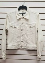Ralph Lauren Women's Black Label ivory Denim Button Down Jean Jacket Sz 12 - $98.01