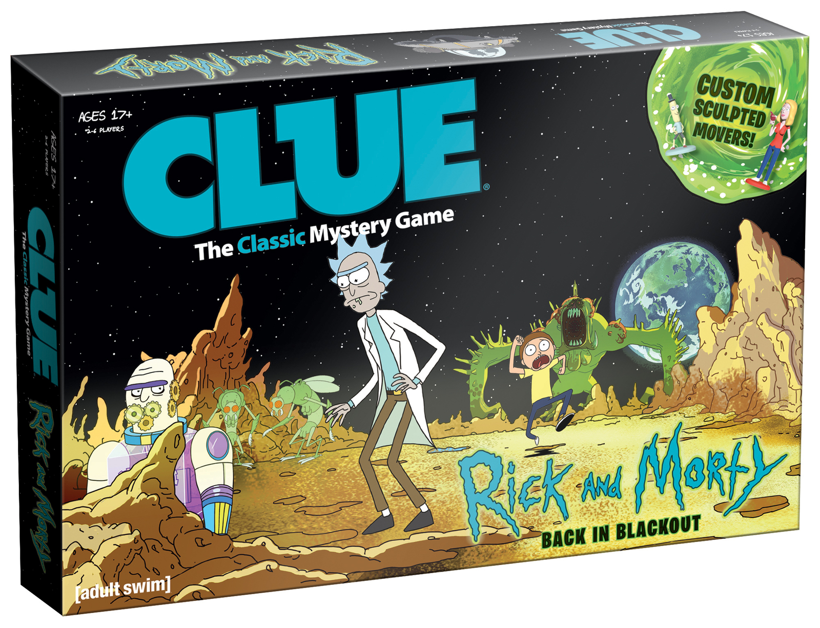 CLUE The Classic Mystery Game: Rick and Morty - Back in Blackout - $25.00
