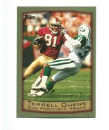Terrell Ownes 1999 Topps Card #20 San Francisco 49ers Eagles Free Shipping - $1.45