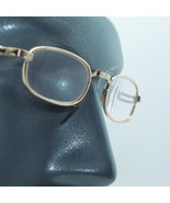 Folding Pocket Reading Glasses Mid Size Gold Metal Frame +3.50 Lens Stre... - $21.00