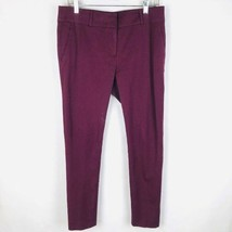Ann Taylor LOFT Women Size 8 Marisa Skinny Burgundy Stretch Pants Chino - $19.77