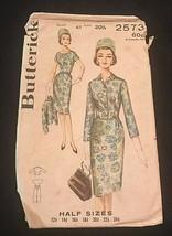 Vintage 1960s Butterick 2573 Slimliner Sexy Vixen Dress Pattern Bust 41 ... - $14.85