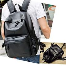 Vintage PU Leather Backpack, OURBAG Outdoor School College Bookbag fit Laptop Co image 2