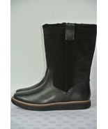 NEW Clarks Glick Elmfield Womens Sz 6.5 M Black Leather Mid Calf Boots $180 - $79.19