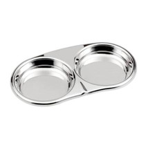 Stainless Steel Seasoning Dish Mustard Dish with 2 Case round - $13.29