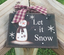 5780LIS - Let It Snow Sign  - $2.50