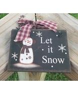 5780LIS - Let It Snow Sign  - $2.50