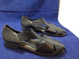 Easy Street Black Leather Comfortable Slip-on Shoes Sz 10M image 3
