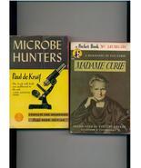 MICROBE HUNTERS/MADAM CURIE - vintage '40s Pocket Books - $9.00
