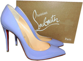 Christian Louboutin Pigalle Follies Pumps Schuhe 38.5 Hortensie Lackleder - $480.23