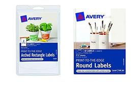 2 Pack Avery Print-to-The-Edge Round Labels/Arched Rectangle Labels - $9.99