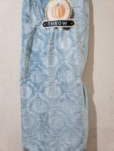 THANKSGIVING FALL BLUE PUMPKINS PLUSH THROW BLANKET DECOR 50x70 - $35.32 CAD