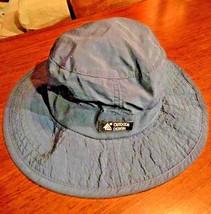 DORFMAN PACIFIC Headwear Safari Sun Hat Mesh Canvas Bucket Navy Blue Os  - $16.23