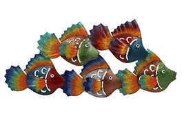 Colorful School of Fish Metal Wall Hanging - $22.90