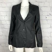 Theory Women's Blazer 4 Gray Pinstripe Wool USA - $36.47