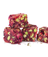 Turkish Ottoman Delight Lokum Organic Rose-petal with Pistachio 1 lb / 4... - $29.69