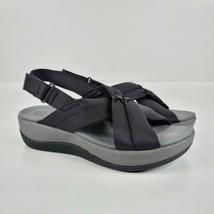 CLARKS ARLA BELLE SLING SANDALS NEW WOMEN'S SIZE 6 BLACK - $35.64