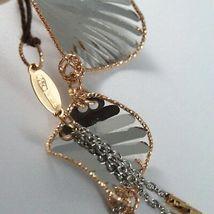 Bracelet White Gold Pink 18K 750, Rhombuses Wavy,Finely Worked, Italy image 6