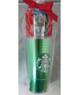 Starbucks Green Travel Cold Cup Mug with VIA Instant Iced Coffee - $15.83