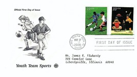 May 27, 2000 First Day of Issue, Postal Society Cover, Youth Team Sports... - $0.99