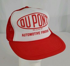 DuPont Automotive Finishes Mesh Snapback Trucker Hat Cap Red White Car P... - $29.99