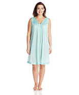 Vanity Fair Women's Plus Size Coloratura Sleepwear Short Gown 30807 - $29.70+