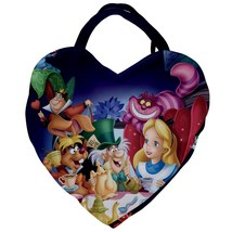 Giant heart shaped tote bag alice in wonderland cheshire cat mad hatter  - $48.00