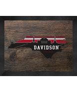 Davidson College13 x 16 Uscape with Retro Skyline Framed Print  - $39.95