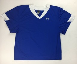 New Under Armour Performance Training Football Jersey Boy's Large Blue U... - $15.43