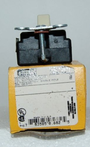 Hubbell HBL1281I Ivory Nylon AC Presswitch Actuator Single Pole USA