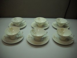 SET OF 6 Teacups and SAUCERS from ROSENTHAL Classic Rose RAYMOND LOEWY - $39.59