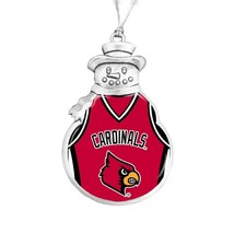 Louisville Cardinals Snowman Basketball Jersey Silver Christmas Ornament... - $12.84