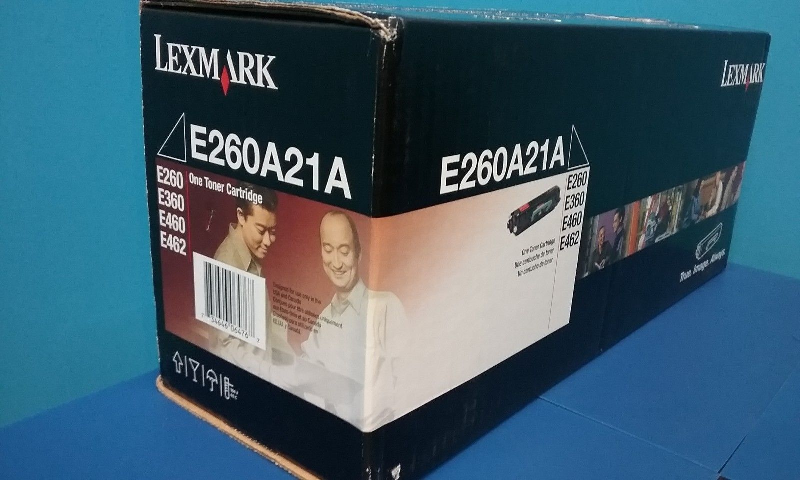 SUSTAINABLE EARTH Remanufactured Toner Cartridge Replacement for Lexmark E260 Black
