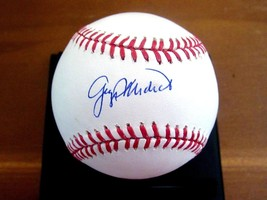 DOC MEDICH GEORGE YANKEES RANGERS BREWERS SIGNED AUTO OML BASEBALL JSA GEM - $89.09