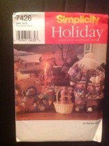 Pattern Simplicity # 7426 Holiday Christmas Collection Noah Elephant Ark... - $8.95