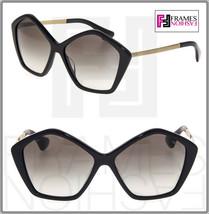MIU MIU CULTE 11N Gold Black Gradient Star Sunglasses 1AB-0A7 MU11NS - $287.10